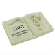 In Loving Memory Memorial Book Shaped Plaque ' Nan' 61248 Bereavement Remembrance